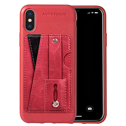 half off d8140 bb607 iPhone XS Max Case,Slim Durable Sleek Leather Wallet Back Cover with Credit  Card Slots Kickstand and Wrist Strap Shockproof Stand Phone Case for Apple  ...