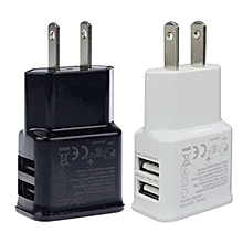 Bluelans 2.1A/1A Dual 2-Port USB Wall Adapter Charger US Plug For Samsung S4 S5 White