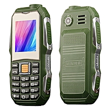 L9 Triple Proofing Elder Phone, Waterproof Shockproof Dustproof, 3800mAh Battery, 1.8 inch, 21 Keys, LED Flashlight, FM, Dual SIM(Green)