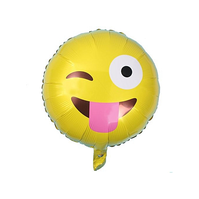 Technologg Home Decor Foil Emoji Helium Balloon Happy Birthday Party Decoration Yellow