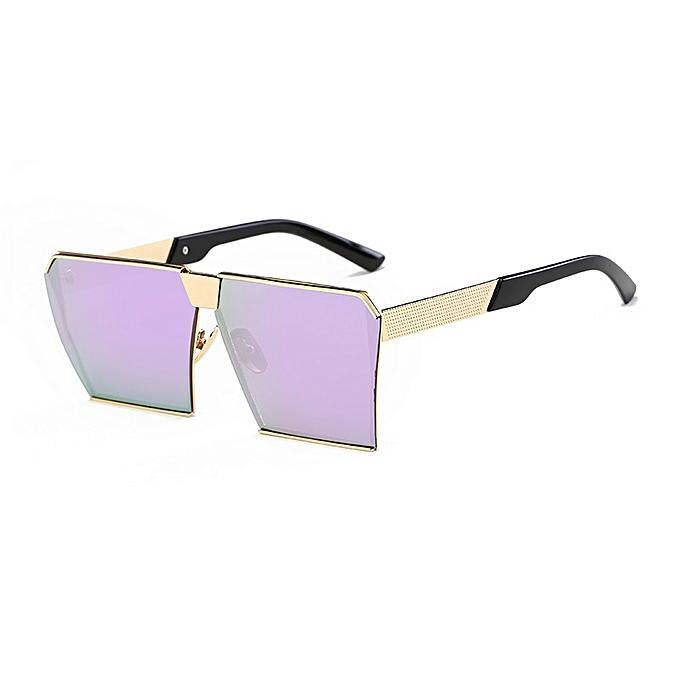 ed386aa37f Men  Woman Sunglasses Square Sunglasses Bright Color Retro Big Frame - Gold  Box Hyun Purple Tablets