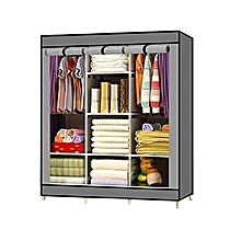 Portable Wardrobe - 3 Columns - 130*170*45cm - Grey