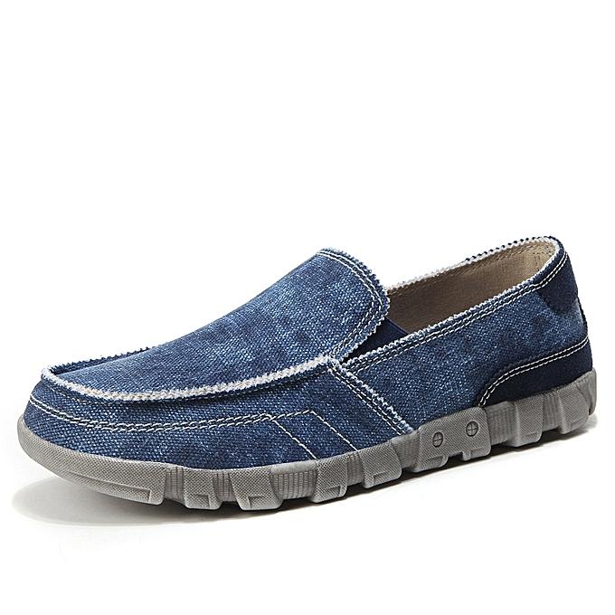 773e12c2c8a EUR 39-46 Fashion Canvas Shoes Men Loafers Moccasins Slip on Soft Denim Mens  Casual