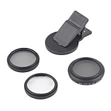 3 In 1 ZOMEI Universal 37MM CPL+Close Up Filter+ND2-400 ND Fader Filter Kit