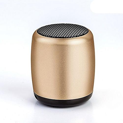 ed6b38c9aefd5e Generic Metal Mini Portable Wireless Bluetooth Speaker Small Pocket Size  with Selfie Remote Shuttle Control Button Handsfree Mic GDMALL