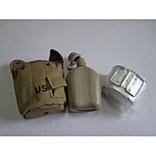 New Arrival US Single-soldier Camouflage Water Bottle Three-piece Camp Mountaineering-02