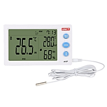 UNI-T A12T Digital LCD Thermometer Hygrometer Temperature Humidity Meter Alarm Clock Weather Station