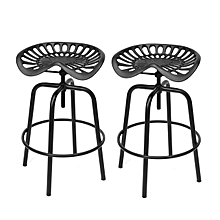 2x Tractor Cast Iron Metal Bar Stool Rustic Chair Classic Vintage Industrial