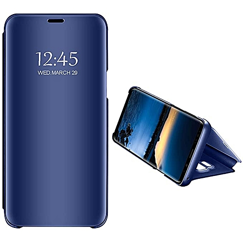 timeless design 15779 d40a8 Samsung Galaxy S7 Edge Leather Case, Pu Leather Flip Case Cover For Samsung  Galaxy S7 Edge With Stand Function And Plating Mirror - Blue.