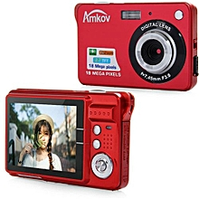 CDC3 2.7 Inch TFT Screen 18.0MP CMOS 3.0MP Anti-shake Digital Video Camera with 8X Digital Zoom-RED