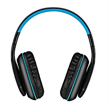 KOTION EACH B3506 Wireless Bluetooth Stereo Headphone Bluetooth 4.1 CSR 8635 Over-ear Foldable Gaming Headset with Mic 3.5mm Cable for PS4 PC Smart phones Computer Blue with Black