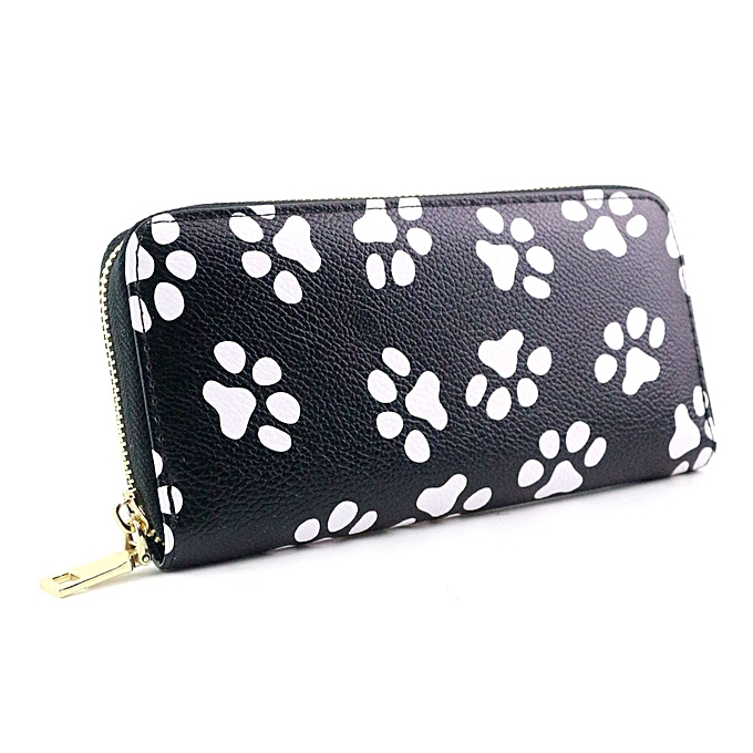 Fashion Africanmall store Women Clutch Smiling Face Paw Long Purse Wallet Card Holder Handbag Bag B-AS Shown