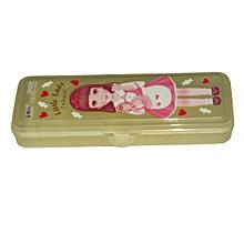 LittleLady Plastic Pencil Case - Brown