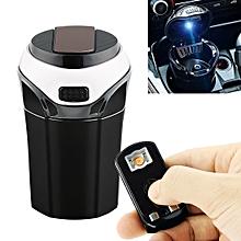 2 in 1 Universal Car Detachable Electronic Cigarette Lighter + Trash Rubbish Bin Ashtray (Silver)