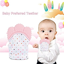 Silicone Baby Teether Glove Biting Glove Dentition Thumb Teething Give Up Sucking Fingers Pink