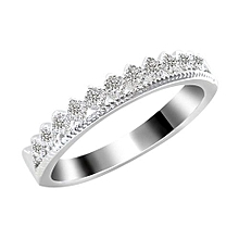 Men's Women's Gold Plated Rhinestone Crown Couple Ring Jewelry Love Silver