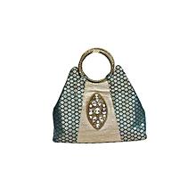 Benarasi Brocade Handbag - Green