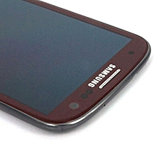 Lcd Screen With Frame Touch Screen Lcd Display Complete Screen Assembly Replacement Parts Red For Samsung Galaxy I747