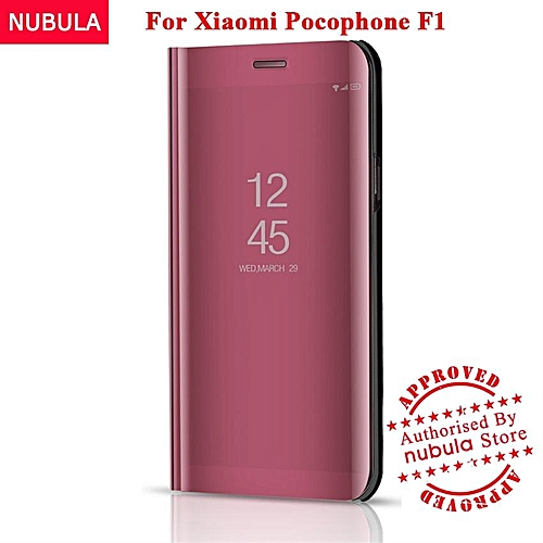 buy online 013d9 c7651 For Xiaomi Pocophone F1 Flip Case,360 Degree Luxury Mirror Clamshell Hard  Shell Case Smart Clear View Flip Cover For Xiaomi Poco F1 / for XiaoMi ...