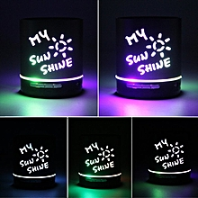 "Portable Mini Media Player Bluetooth Speaker With You Are My Sunshine"""" Red"