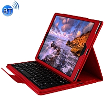 For iPad Pro 12.9 Inch (2017) / iPad Pro 12.9 Inch (2015) Separable Litchi Texture Horizontal Flip Leather Case + Bluetooth Keyboard With Holder - Red