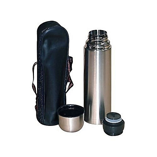 Stainless Steel Thermos Vacuum Flask 0 5 Litres Plus FREE Pouch Bag
