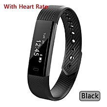 D115HR Smart Wristband Heart Rate Monitor Activity Tracker Smart Band Waterproof Bracelet ID115 HR Sport Fitness Watch(Black)
