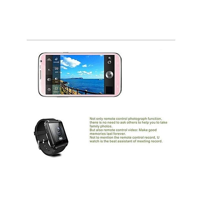 U8 Bluetooth Smart Watch-Black