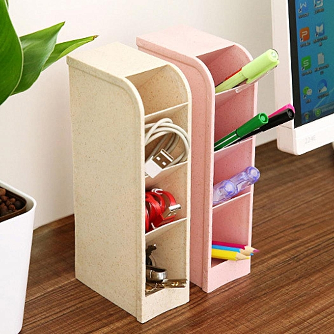 Home Desk Storage Container Box Stationery Pencil Holder Drawer Organizer