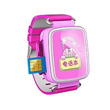 Hot Kid GPS Smart Watch Wristwatch SOS Call Location Finder Locator Device Tracker For Kid Safe Anti Lost Monitor Baby Gift Q60  (Color:Pink)