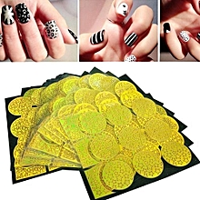 bluerdream-24 Sheets Nail Art Transfer Stickers 3D Design Manicure Tips Decorations-Yellow