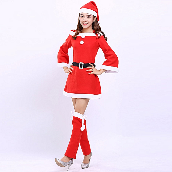 6d55773101c2 Women Santa Claus Christmas Clothes Costume Party Cosplay Outfit Fancy  Dress Set