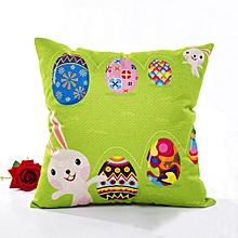 Environmental Cartoons Square Anime Rabbit Printed Throw Linen Pillow Case