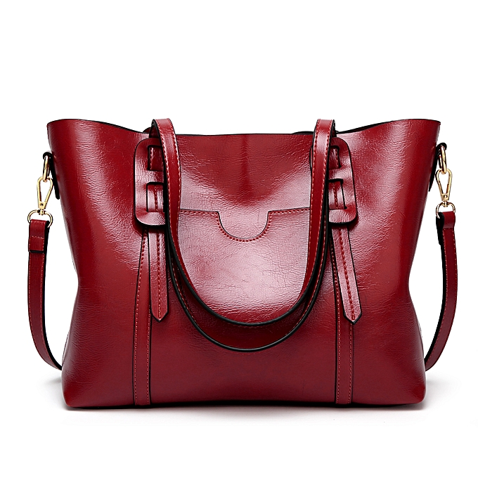 Fashion Women s Shoulder bag High Capacity Oily Soft Leather Tote ... 1855235f71