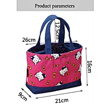 New Portable Canvas Lunch Bag Thermal Insulated Snack Lunch Box Carry Tote Storage Bag Travel Picnic