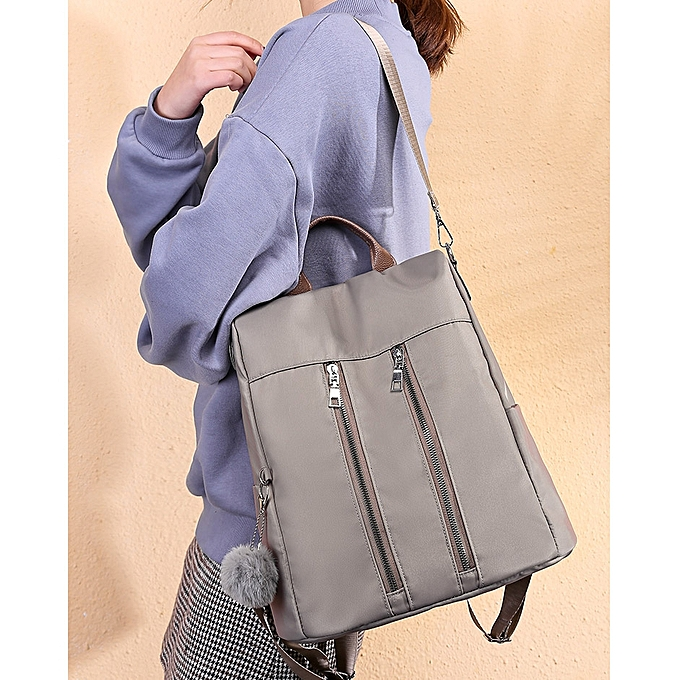 96b70a46eab5 Fashion Oxford Cloth Ladies Backpack Casual Handbag Crossbody  Single-shoulder Bag with Plush Ball (