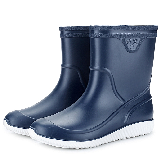 f84fb5fbcc8 Mens Flats Non-slip Round Toe Athletic Shoes Waterproof Galoshes Rain Boots
