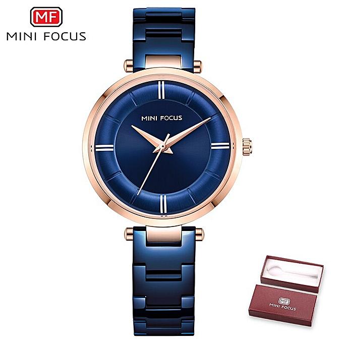 acheter pas cher 2b0db 7184e Luxury Rose Gold Women Watches Quartz Dress Wrist Watch Montre Femme  Stainless Steel Waterproof Japan Movement Saat(Blue)