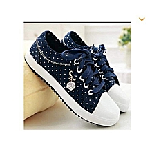 Polkadot canvas shoes