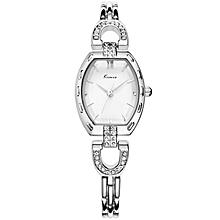 Elegant Silver Crystal Wrist Watch + Free Kimio Gift Box
