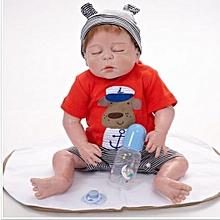 """23"""" 58cm Reborn Baby Sleeping Silicone Doll Vinyl Lifelike Newborn Realistic"""