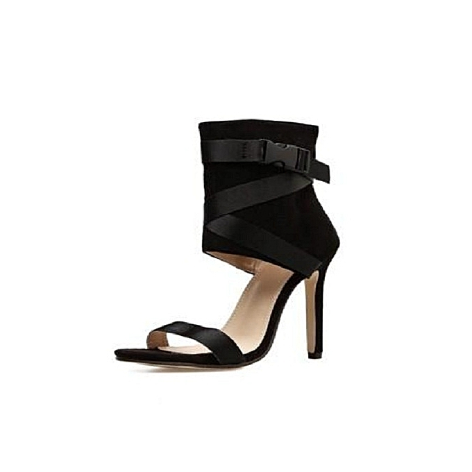 7aa7b8b81f0 Generic Sexy Black Ankle strap leather High Heel   Best Price ...