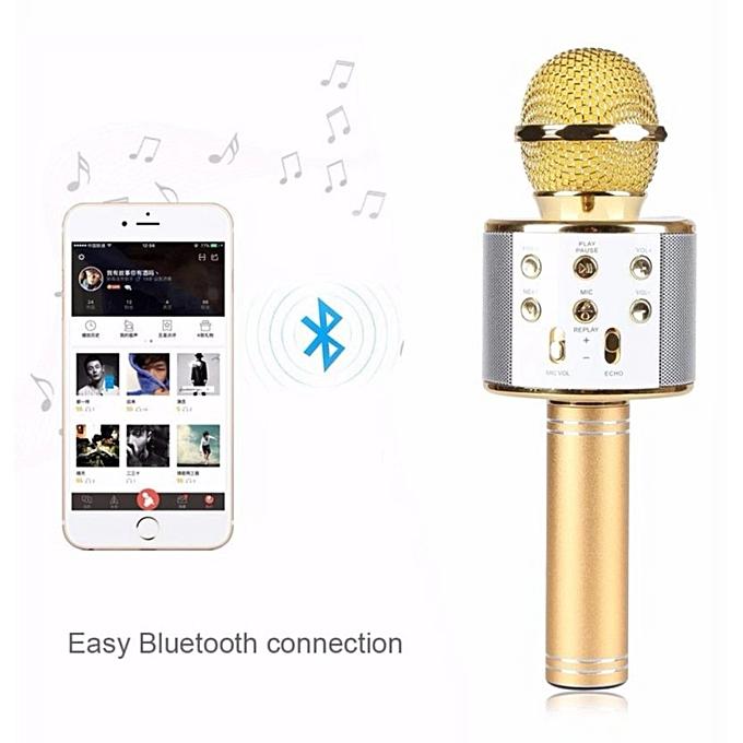 Wireless Bluetooth Karaoke Microphone Portable Speaker KTVMIC