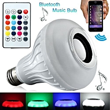 Color Bulb Light Bluetooth Control Smart Music Audio Speaker - White