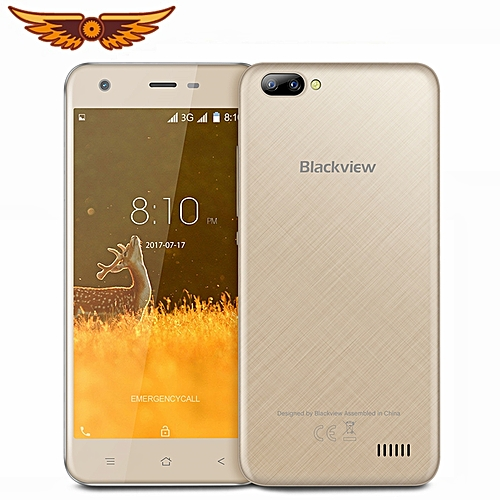A7 Smartphone Android 7.0 Dual Rear Camera Quad Core 5.0'' 1GB+8GB GPS WIFI 3G Mobile Phone - Gold