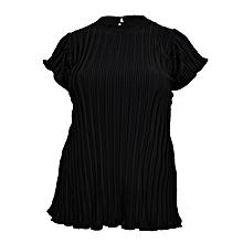 Black short sleeved ladies top