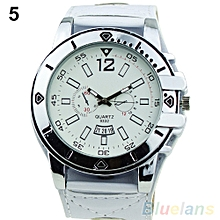 Leather Strap Watch (White)