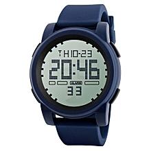 Fashionable Male's LED Waterproof Digital Quartz Military Luxury Sport Date Watches-Blue