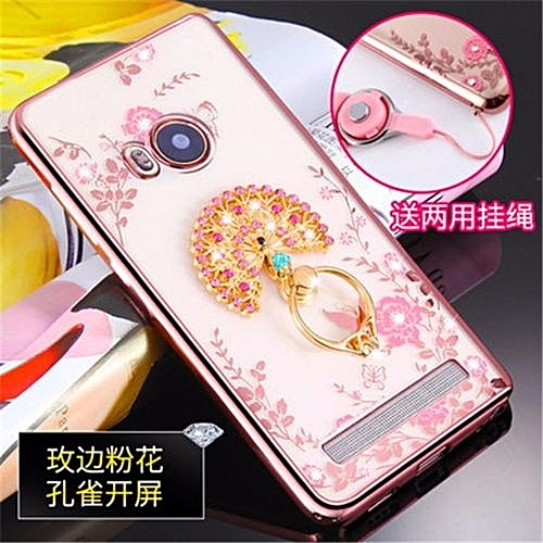 Luxury Rhinestone Phone Case Cover Finger Rotated Ring Holder Stand TPU For Vivo X710l Xshot 5.2