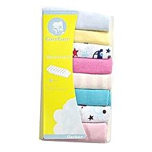 8Pcs Assorted colors Infant Newborn Bath Towel Washcloth Bathing Feeding Wipe Cloth Soft